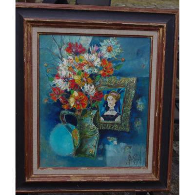 René Margotton ( 1915- 2009) Bouquet à La Miniature
