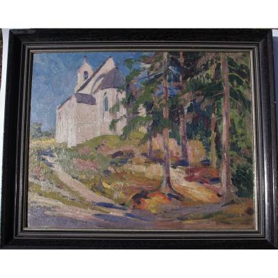 Fauvist , Near The Church Sign Delescuze, Firt Part Of XXeme Century