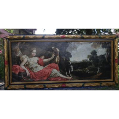 Diane Chasseresse French School From 17th Century To Restore Period Frame, Large Format