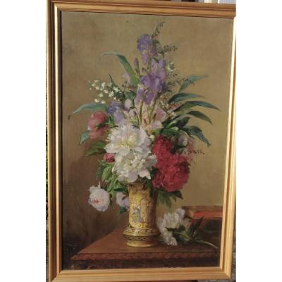 Grand Bouquet De Fleurs 19eme Charles Philipard (act.c.1863-1868)