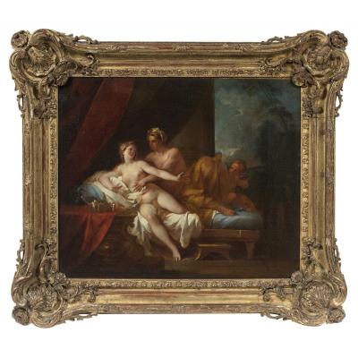 Allegory Of Love, Pair Of 17th Paintings Attributed Pierre-jacques Cazes Paris, 1676 - 1754