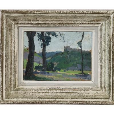 André Roz (1897-1946) Landscape Of Franche-comté, Jura Around 1925/30