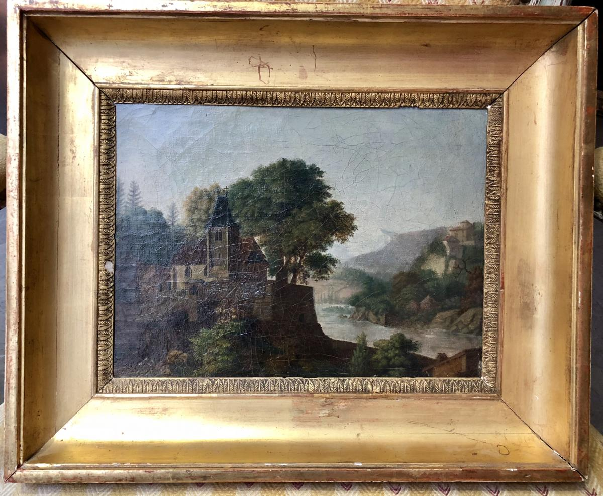 Vue de l'isle Barbe, Jean-michel Grobon, 1795