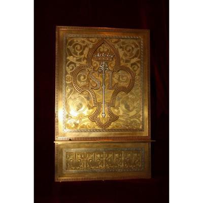 Lutrin en bronze doré attribué à Armand-calliat