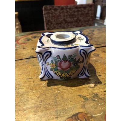 Inkwell Earthenware Charolles 20th Cb Brand