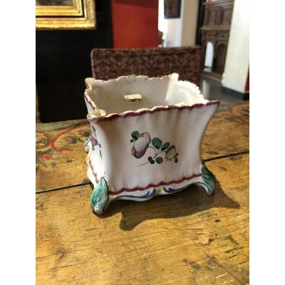 Small Planter In Earthenware Marseille Nineteenth