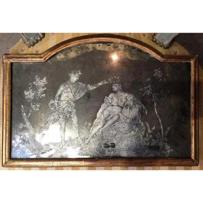 Miroir Gravé Louis XIV