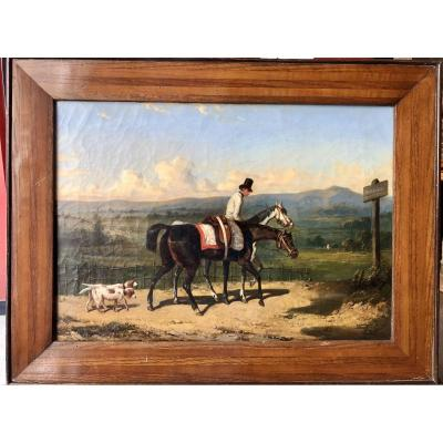 Follower Of Dreux, Gentleman With Horse, Nineteenth