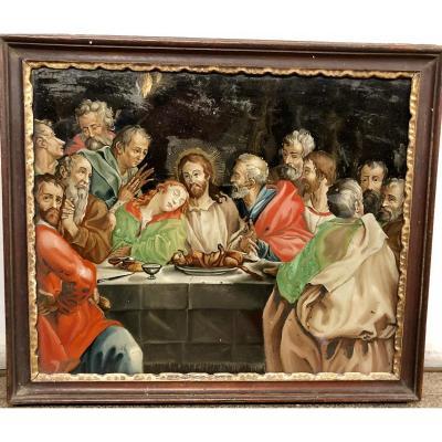 Fixed Under Glass Representative The Last Supper, 18th Century