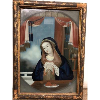 Fixed Under Glass Representative The Madonna At Meal, Eighteenth