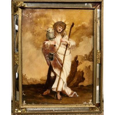 Set Under Glass Representative The Good Shepherd, Eighteenth Century