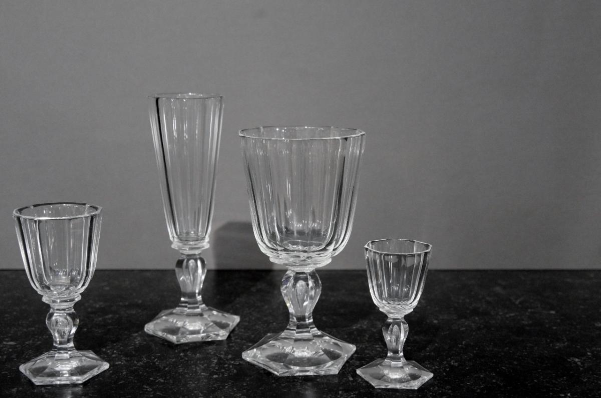 Old Crystal Cut Glass Service