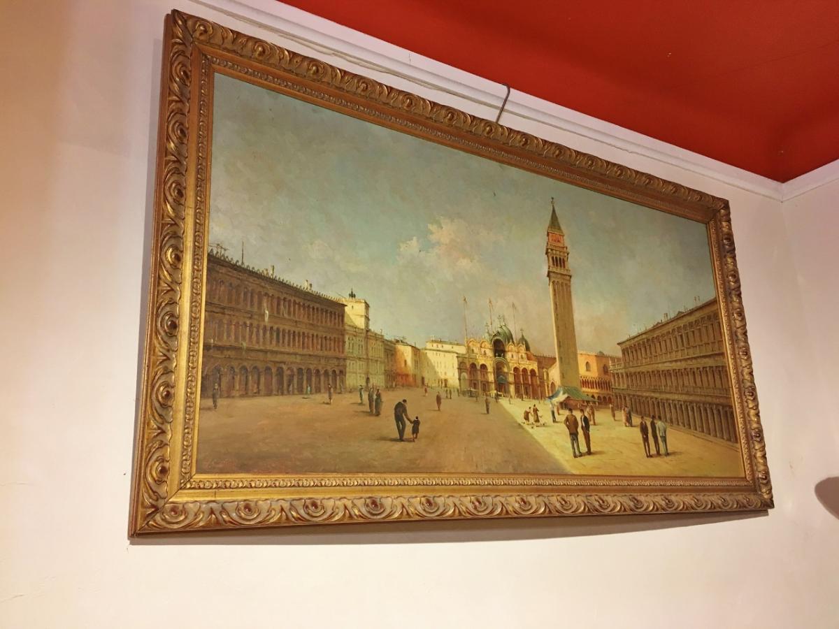 Grande Peinture La Place Saint Marc à Venise