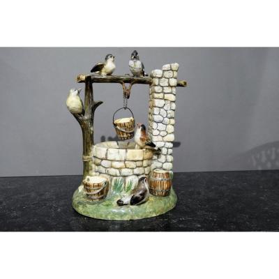 Céramique Barbotine Vallauris Jerome Massier Art Nouveau
