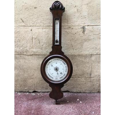 Baromètre  Thermomètre 19éme Siècle  Charlet Ainé Mécanisme Toricelli