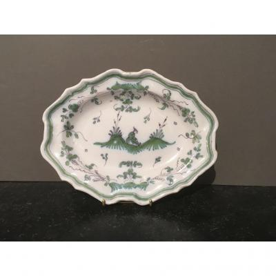 Oval Dish In Earthenware From Moustiers XVIII Century