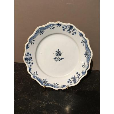 Earthenware Plate From Sinceny 18 Th Century