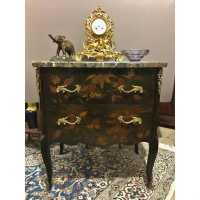 Louis XV Sauteuse Commode In European Lacquer 18 Th Century
