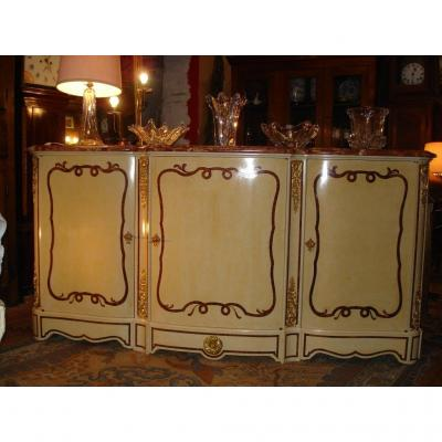 Curved Sideboard Painted XIXth Century