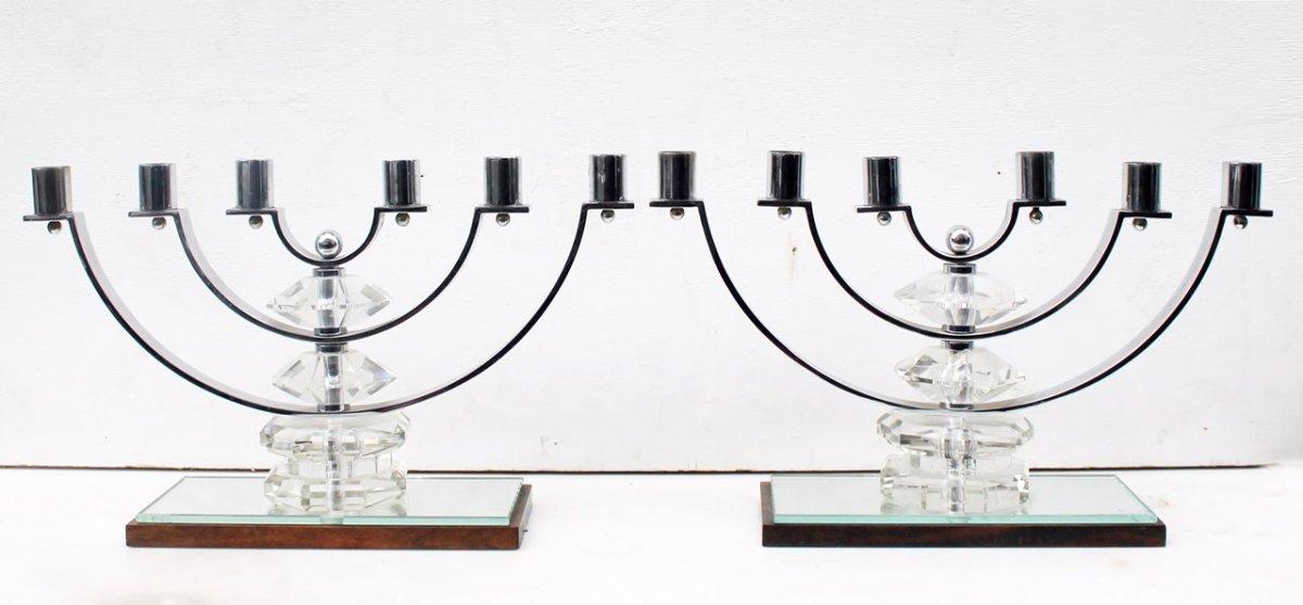 Paire De Chandeliers, Design Scandinave