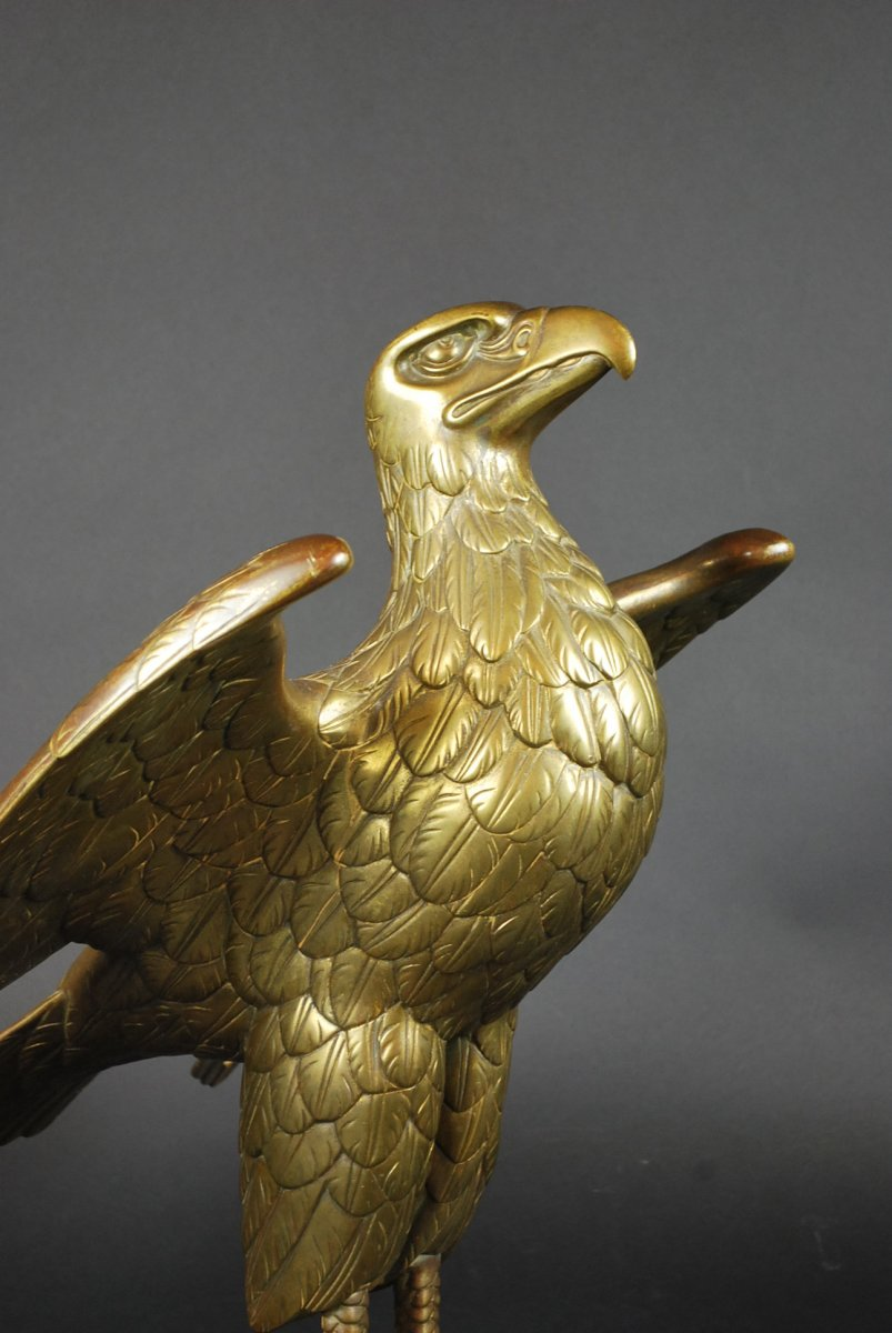 Lectern In Gilt Bronze Forming An Eagle