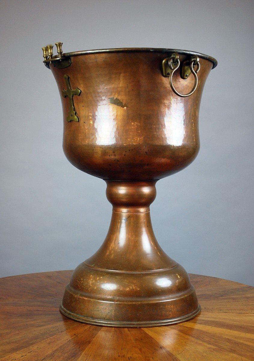 Cuve Baptismale Orthodoxe En Cuivre
