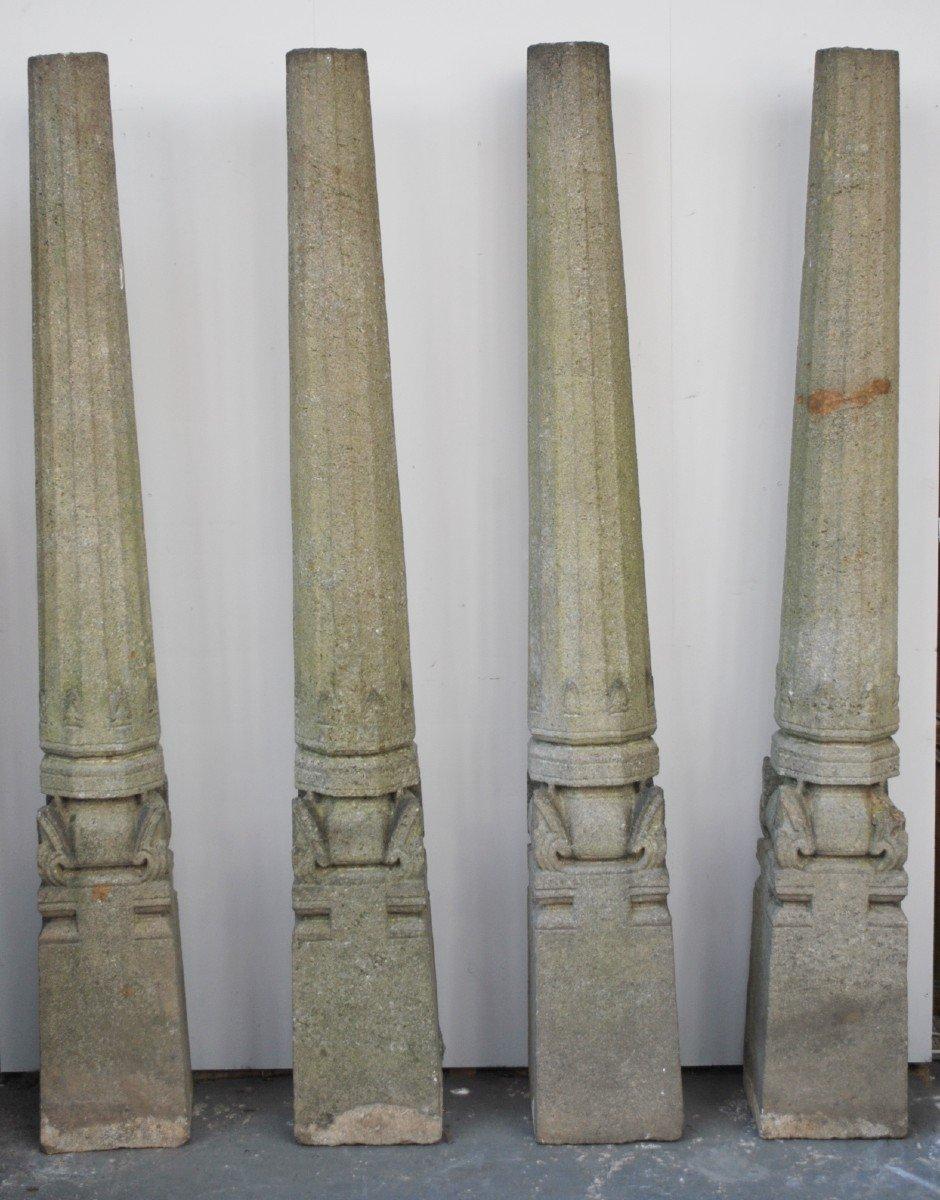 Ensemble De 4 Colonnes En Granit -photo-2