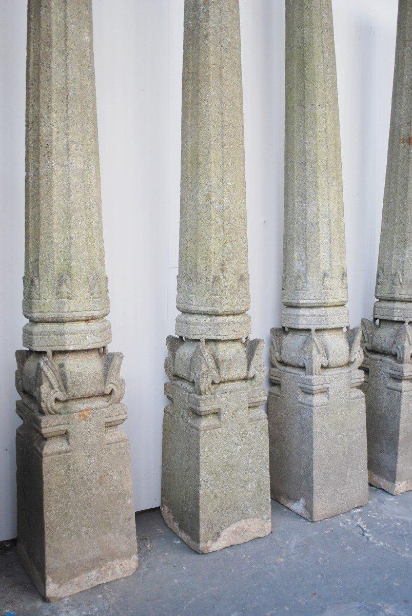Ensemble De 4 Colonnes En Granit -photo-3