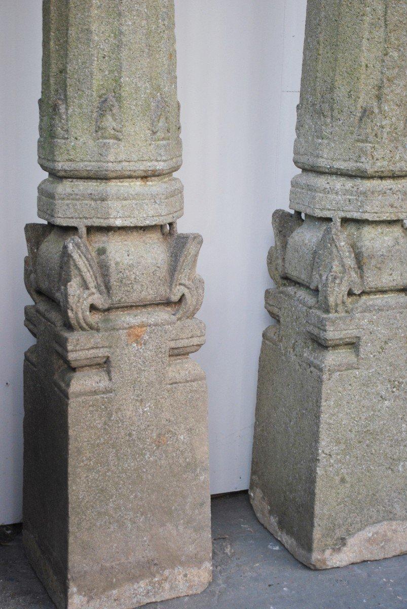 Ensemble De 4 Colonnes En Granit -photo-4