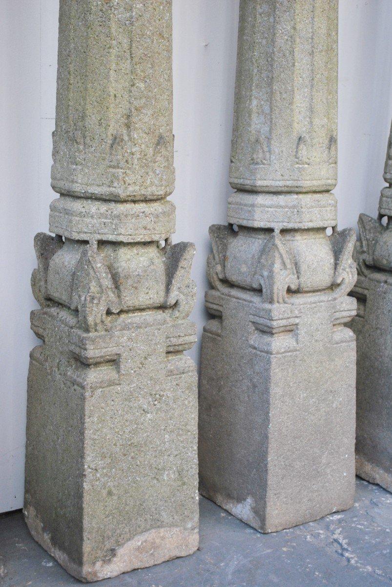 Ensemble De 4 Colonnes En Granit -photo-1