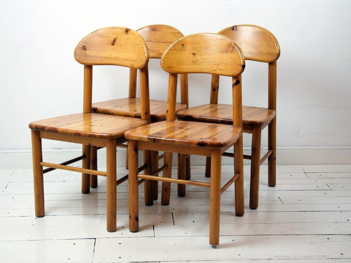 4 Chaises En Pichtpin, Années 60