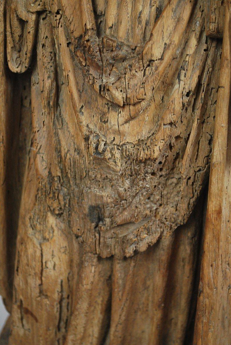 """""""Saint"""" Sculpture en bois 18th-photo-5"""