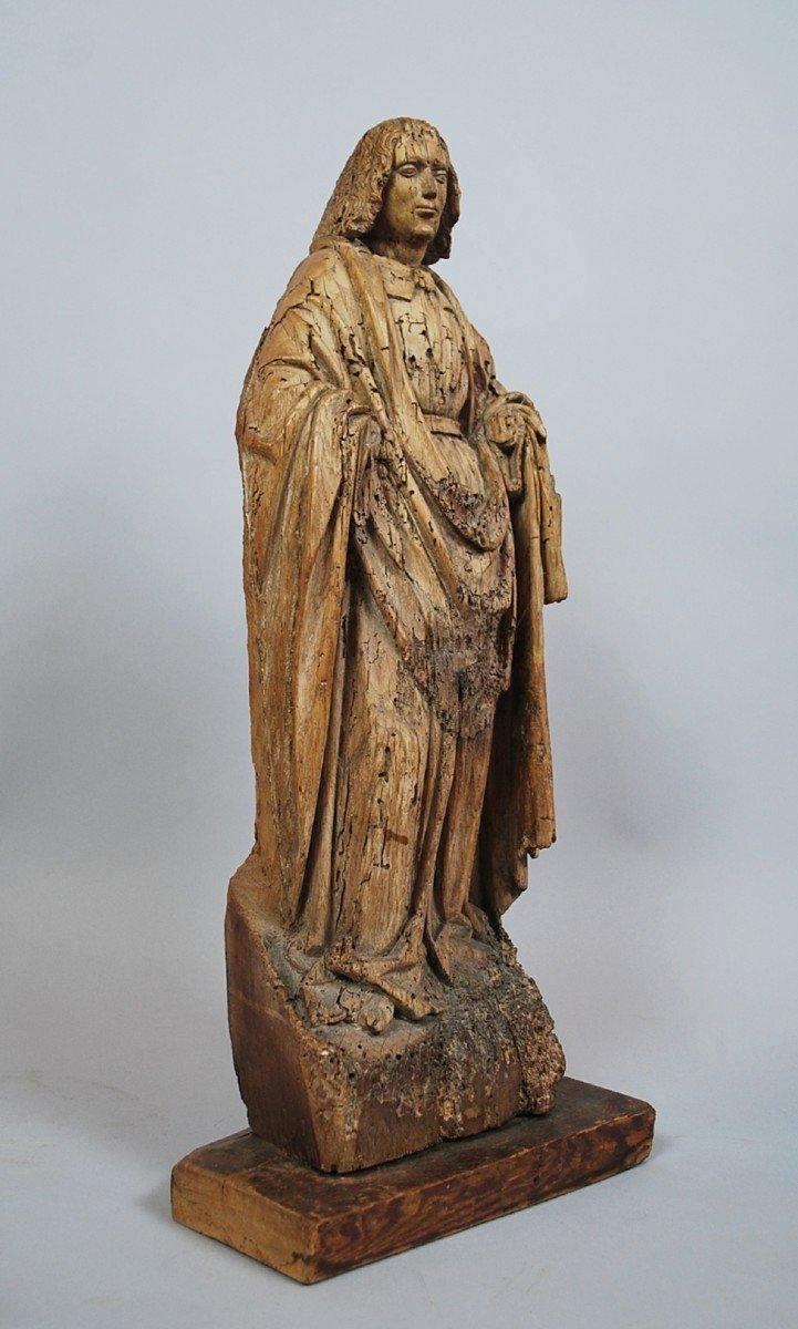 """""""Saint"""" Sculpture en bois 18th"""