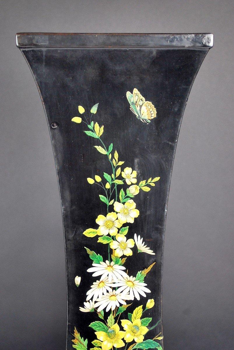 Pair Of Paper Mache Vases, 19th-photo-4