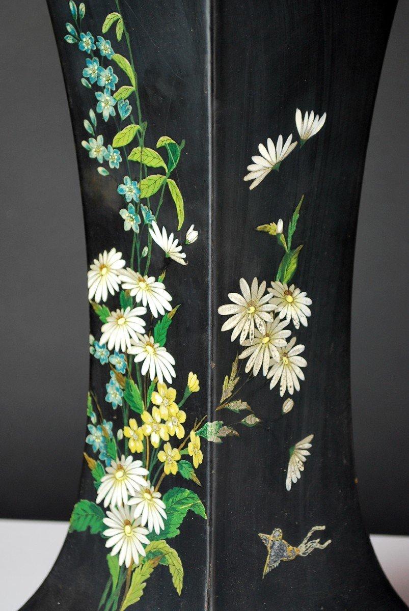 Pair Of Paper Mache Vases, 19th-photo-3