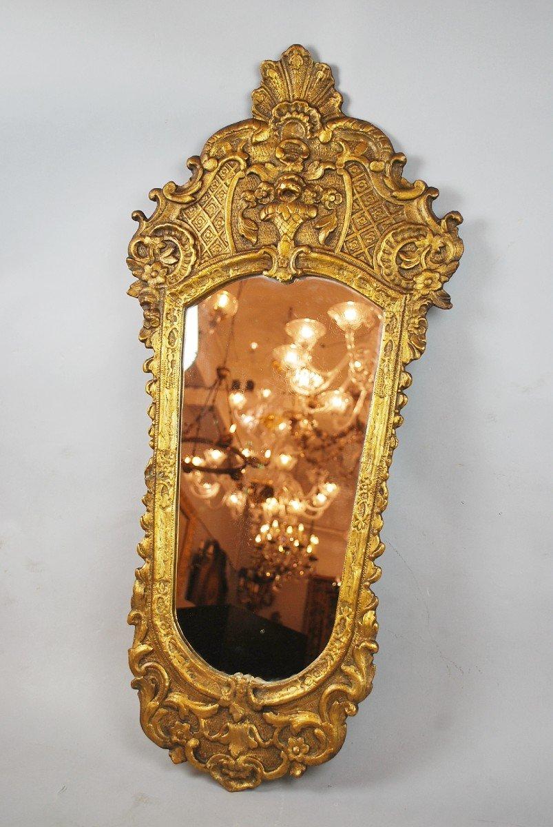 Miroir De Style Louis XV En Bois Doré, 19th-photo-2