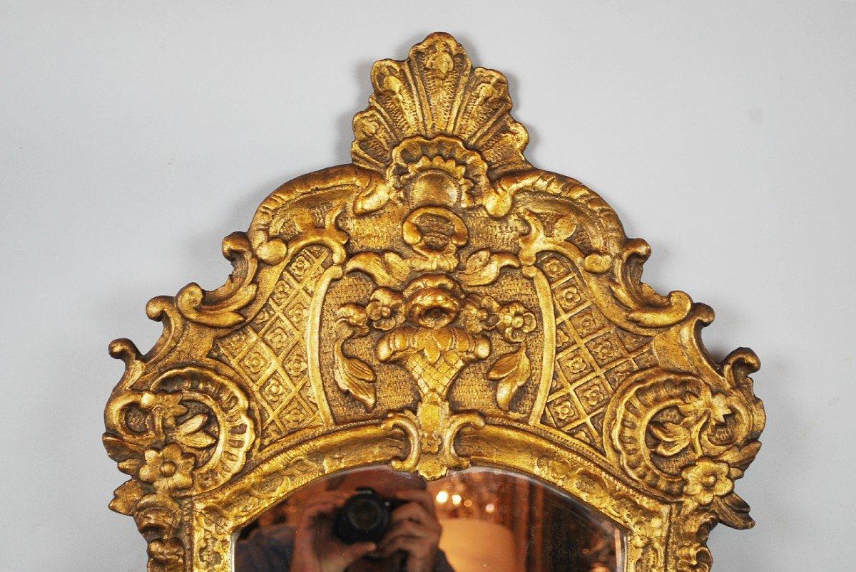 Miroir De Style Louis XV En Bois Doré, 19th-photo-3