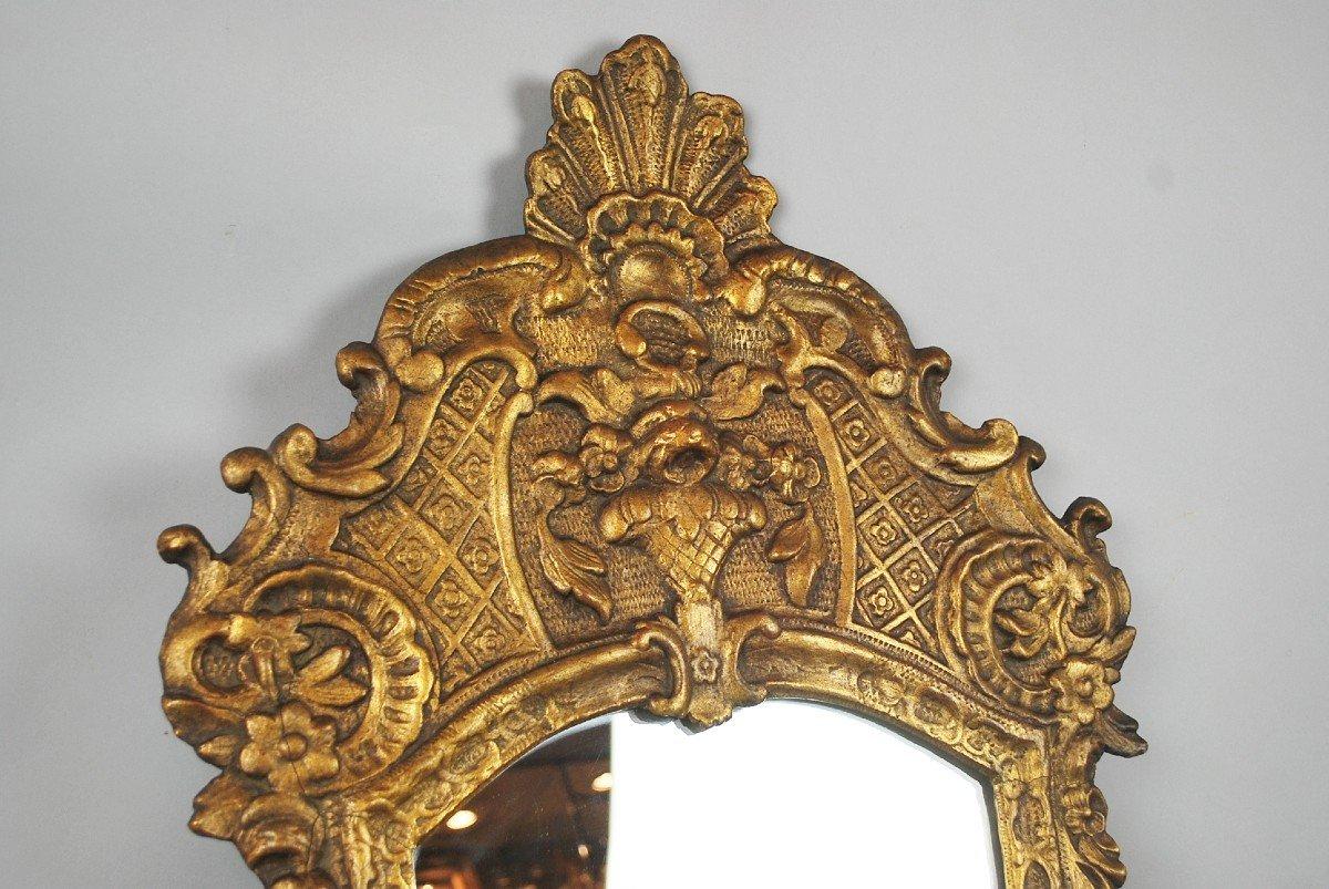 Miroir De Style Louis XV En Bois Doré, 19th-photo-4