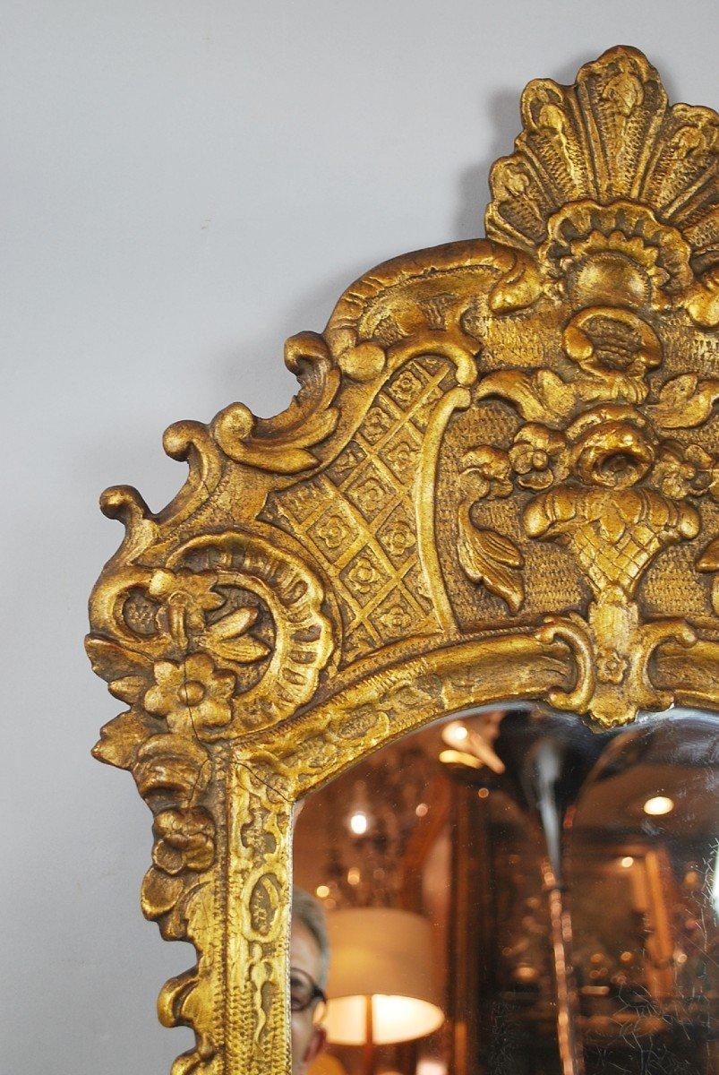 Miroir De Style Louis XV En Bois Doré, 19th-photo-1
