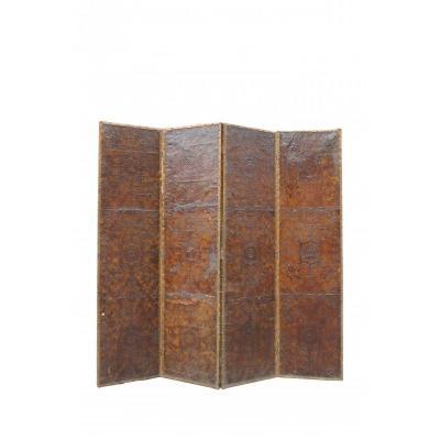 Grand Screen Leather Cordoba, 18th.c