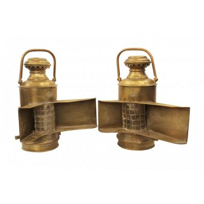 Pair Of Nautical Lanterns, Perko, Usa