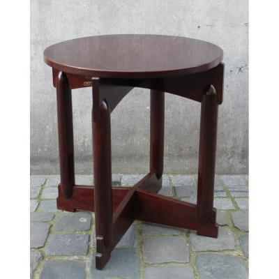 Art Deco Pedestal Table, Gebr. Godschalk, Rotterdam