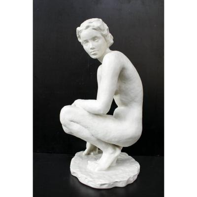 Naked Woman  By Fritz Klimsch For Rosenthal