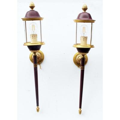 Pair Of Empire Style Sconces