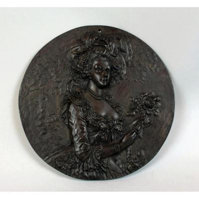 Médaillon En Bronze De Marie-antoinette d'Autriche