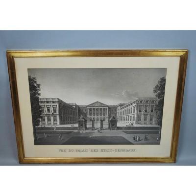 Vue Du Palais Des Etats Généraux, Aquatinte
