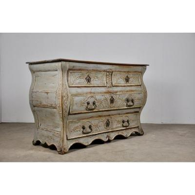 Patinated Wood Chest Of Drawers