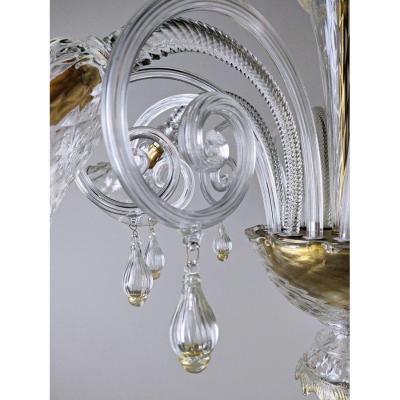 Lustre Murano à 6 Bras De Lumière