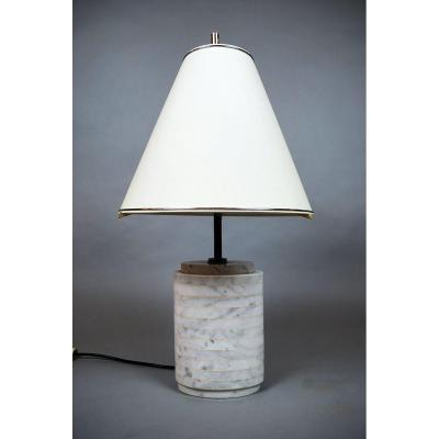 Marble Lamp, 1970s, Italy