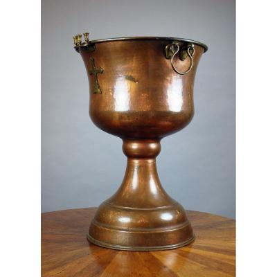 Copper Orthodox Baptismal Bowl